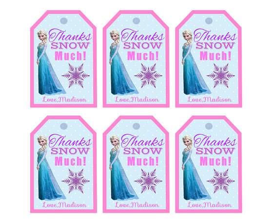Free frozen thank you printables