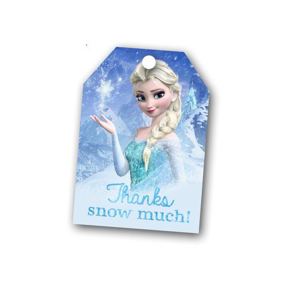 7 Images of Disney Frozen Printable Thank You Tags