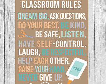 5 best images of printable classroom rules poster free