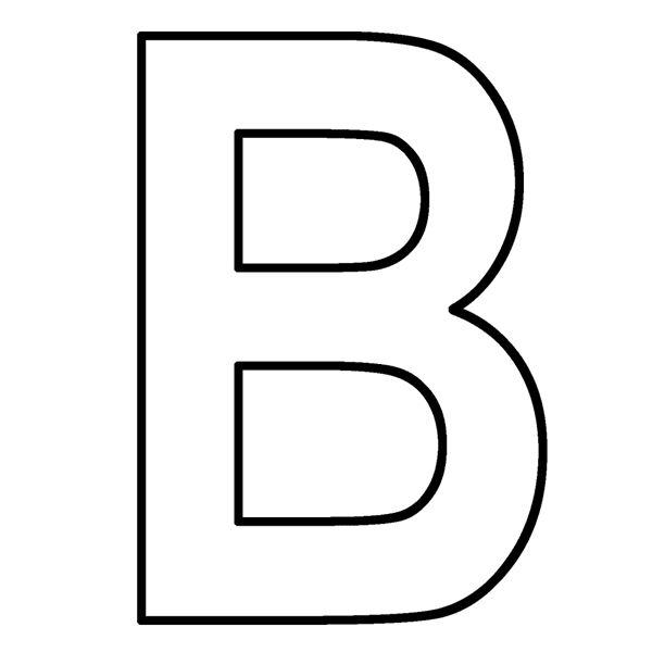 5 best images of letter b printables letter b coloring for Letter b coloring pages for preschoolers