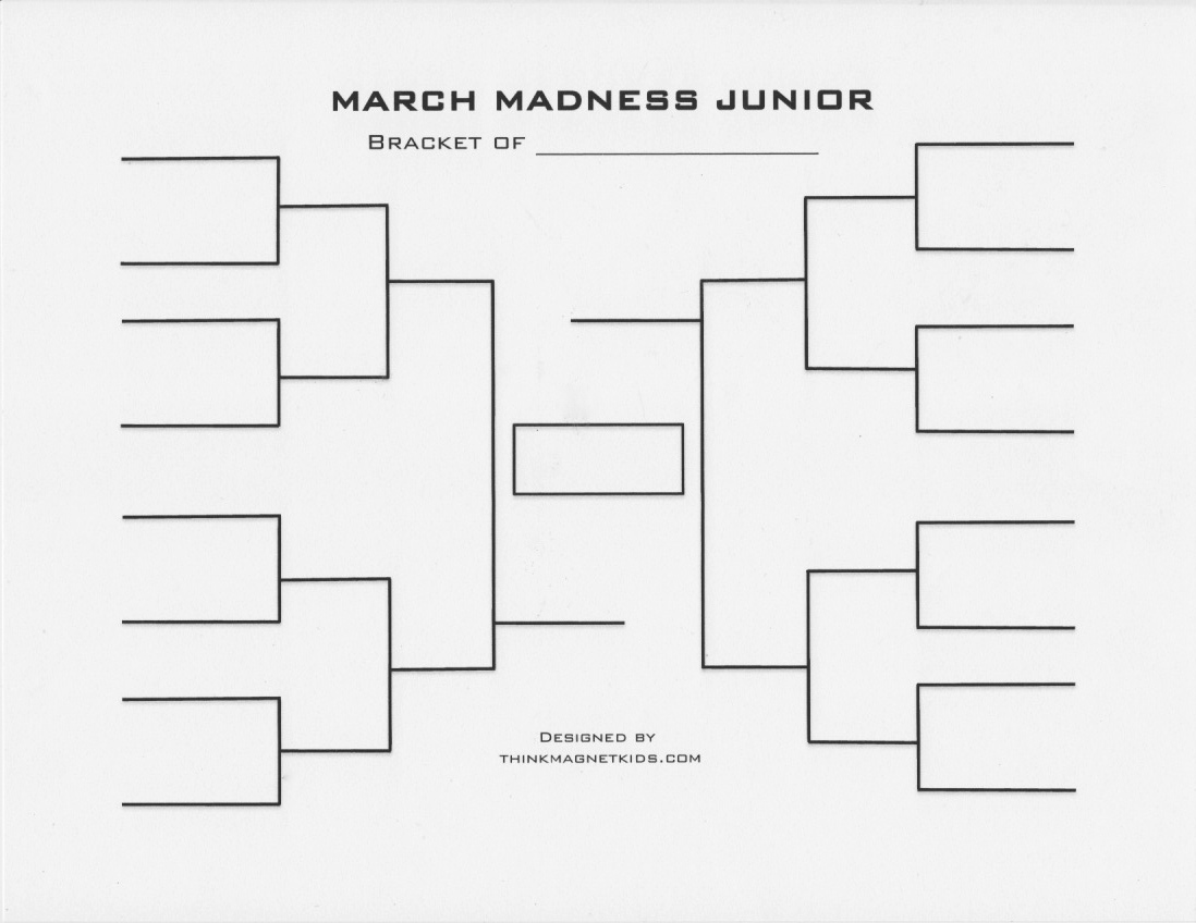 7 Images of Sweet 16 Blank Bracket Printable