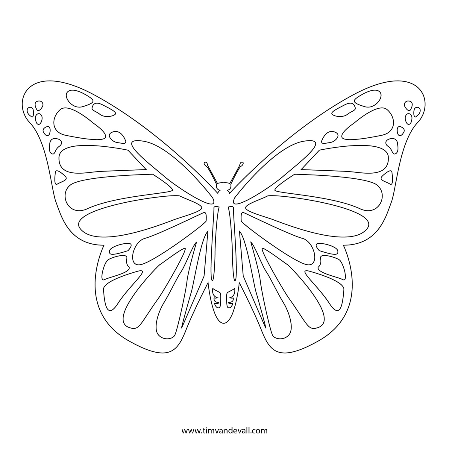 Monarch Butterfly Stencil Printable