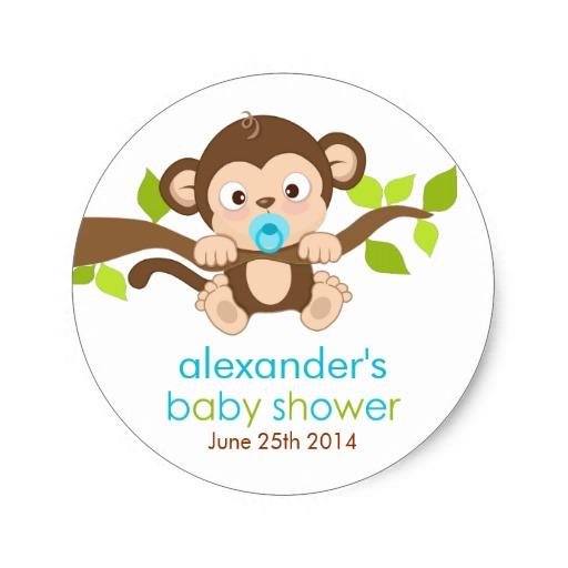 6 Images of Cute Baby Boy Monkeys Printable