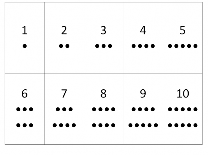 Number Names Worksheets printable numbers 1 to 10 : 5 Best Images of Printable Dot Cards 1 10 - Free Printable Numbers ...