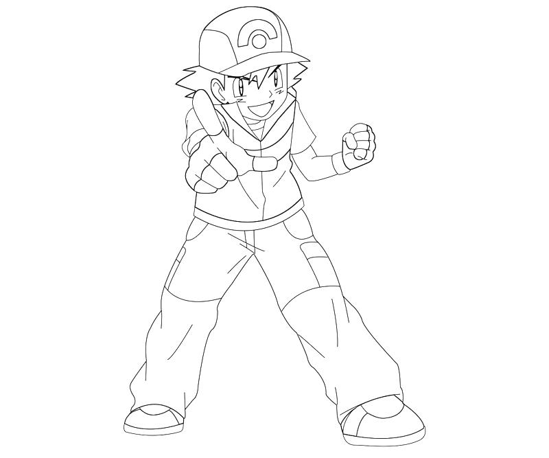 ash ketchum coloring pages - photo#6