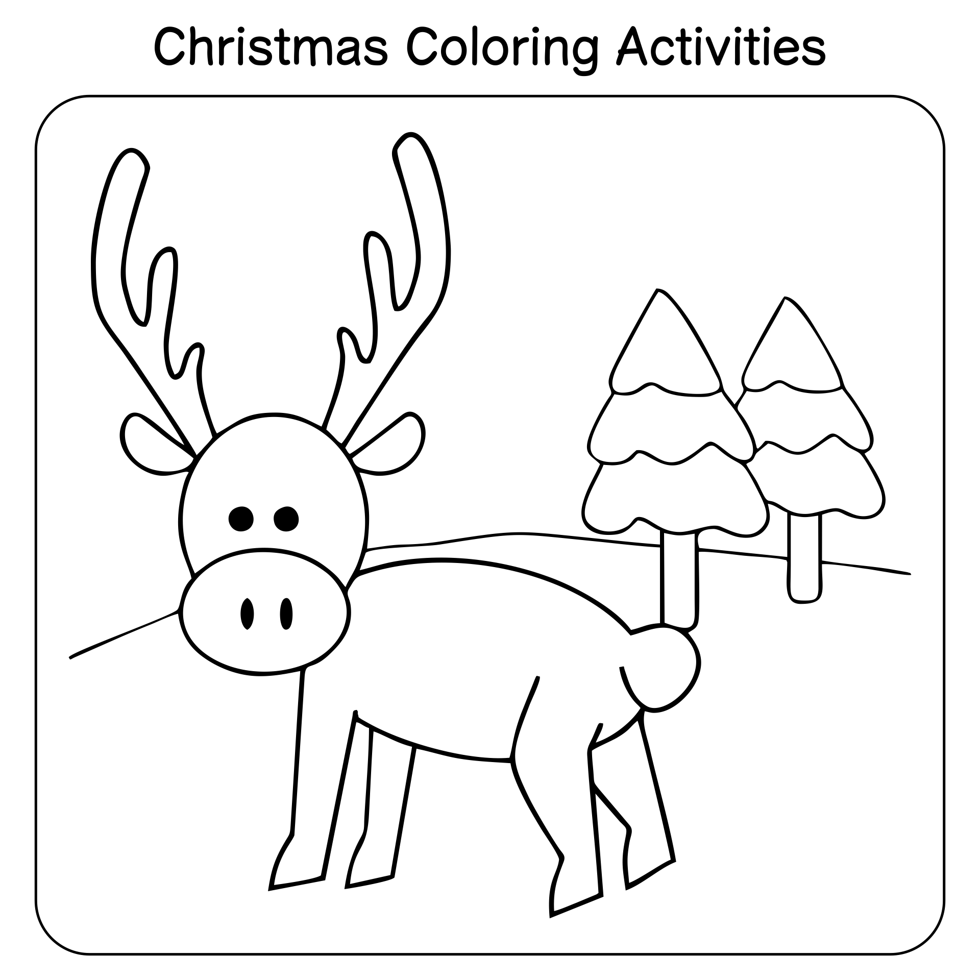 6 Images of Free Preschool Christmas Activities Printables