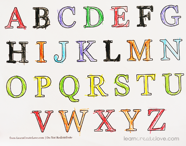 Printable Alphabets and Numbers