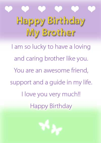 9 Images of Printable Birthday Cards For Brother