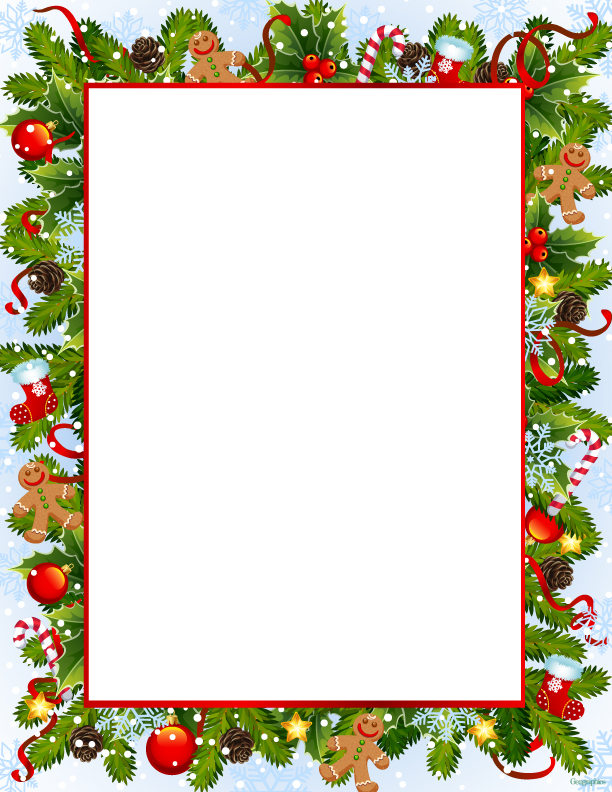 9 best images of printable christmas letter head free for Christmas letter head paper