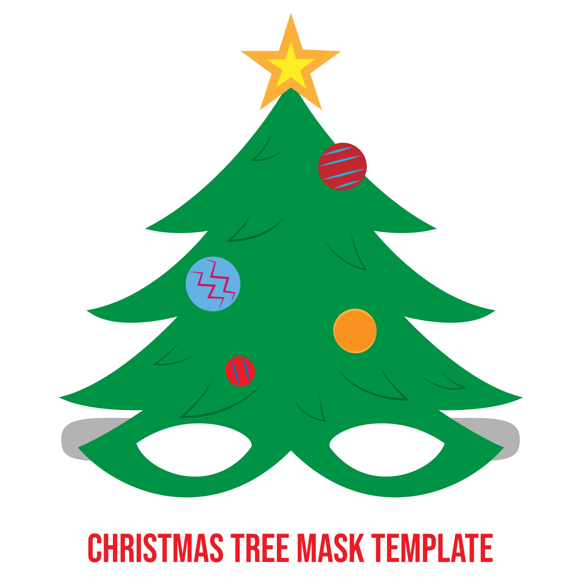 6 Images of Christmas Printable Craft Templates