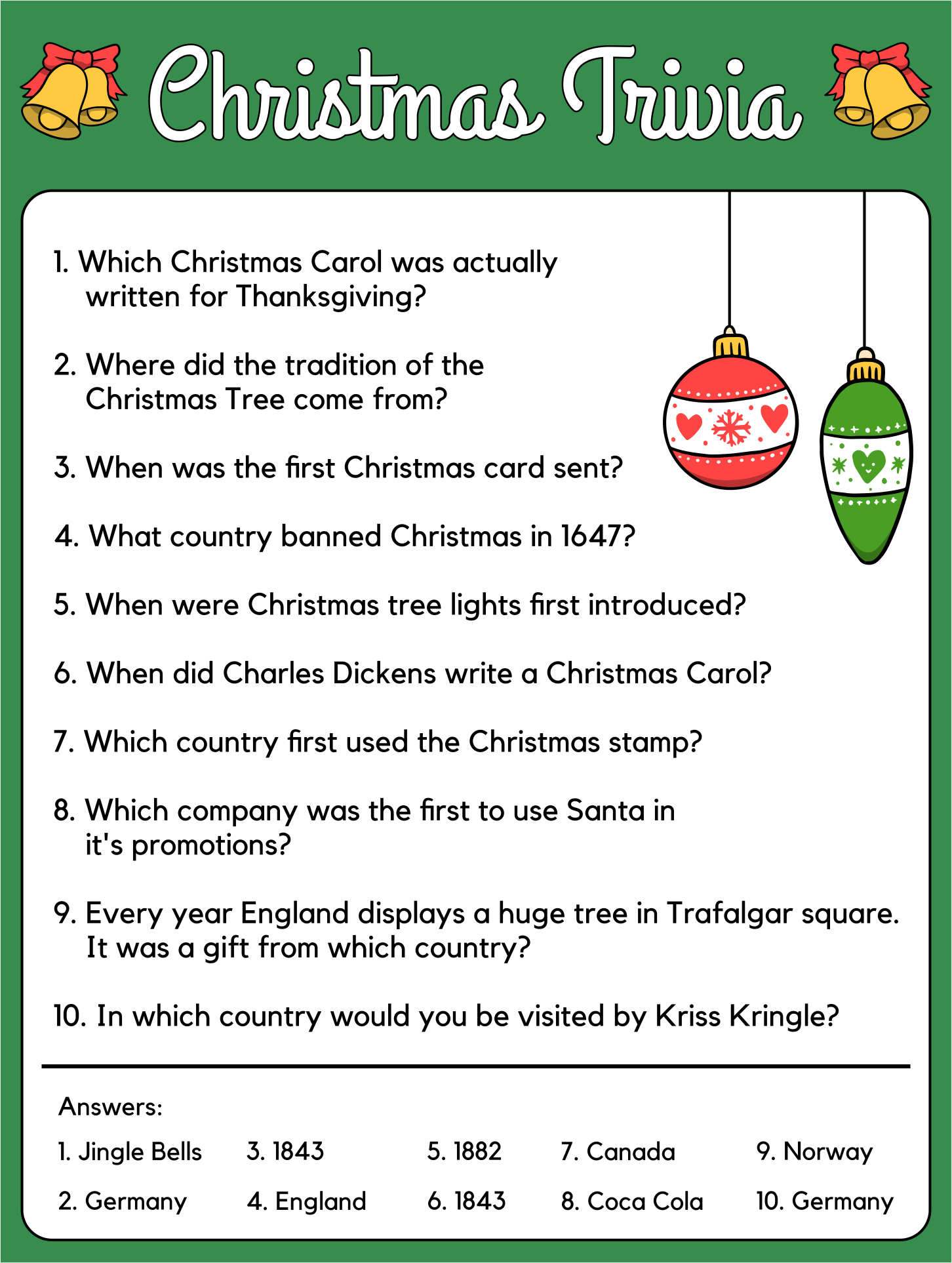 Gallery For gt Christmas Trivia