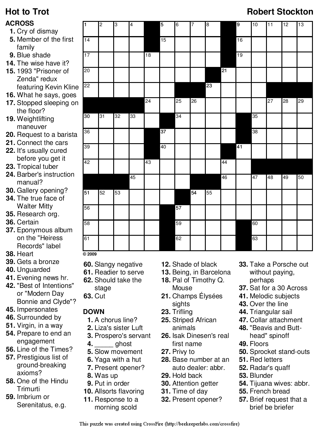 8 Images of Hard Printable Crossword Puzzles For Adults