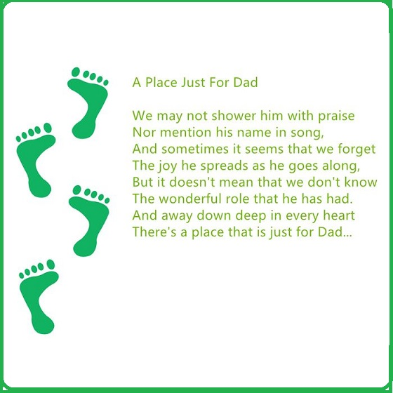 Printable Father's Day Footprint Poem