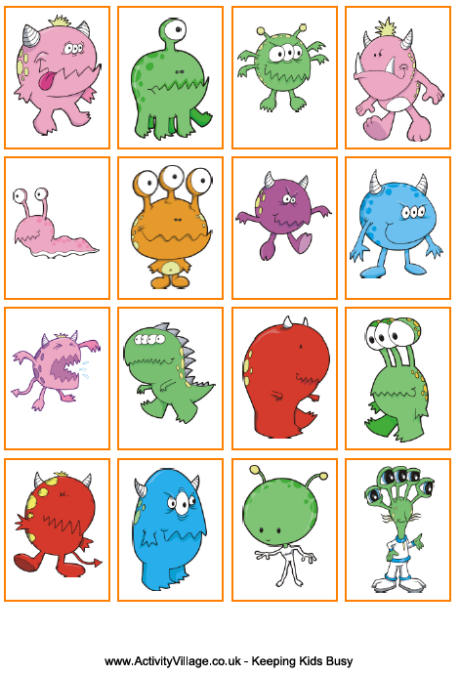 8 Images of Monster Printable Games