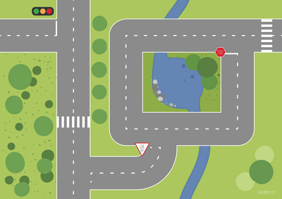 10 Best Images Of Printable Road For Cars Free Printable