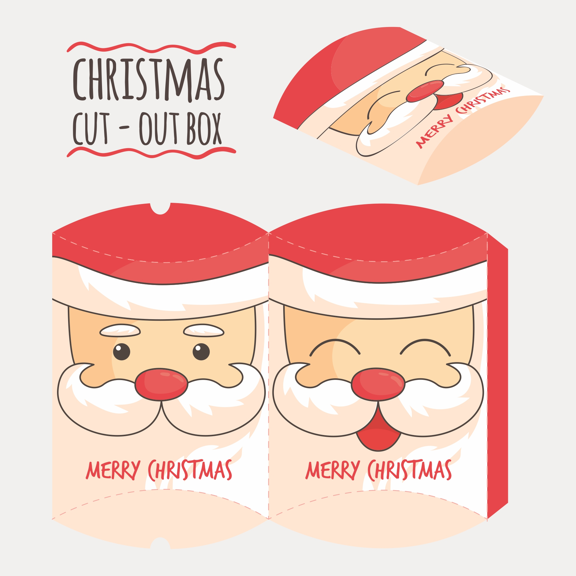 Printable Santa Christmas Crafts