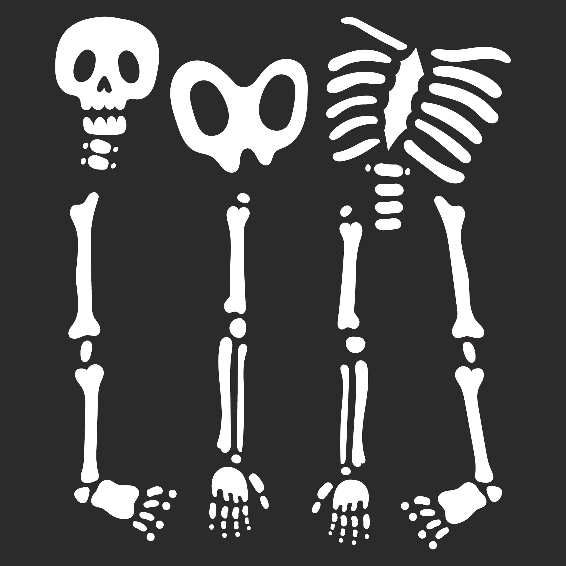 Printable Skeleton Bones Template