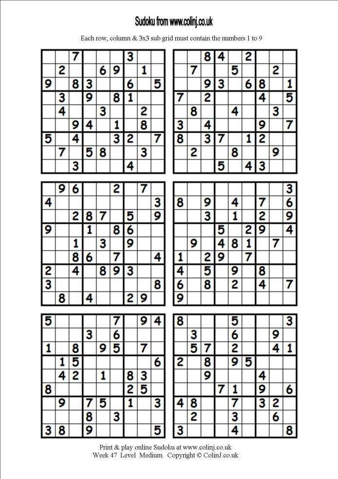 6 Images of Hard Sudoku Printable 6 Per Page