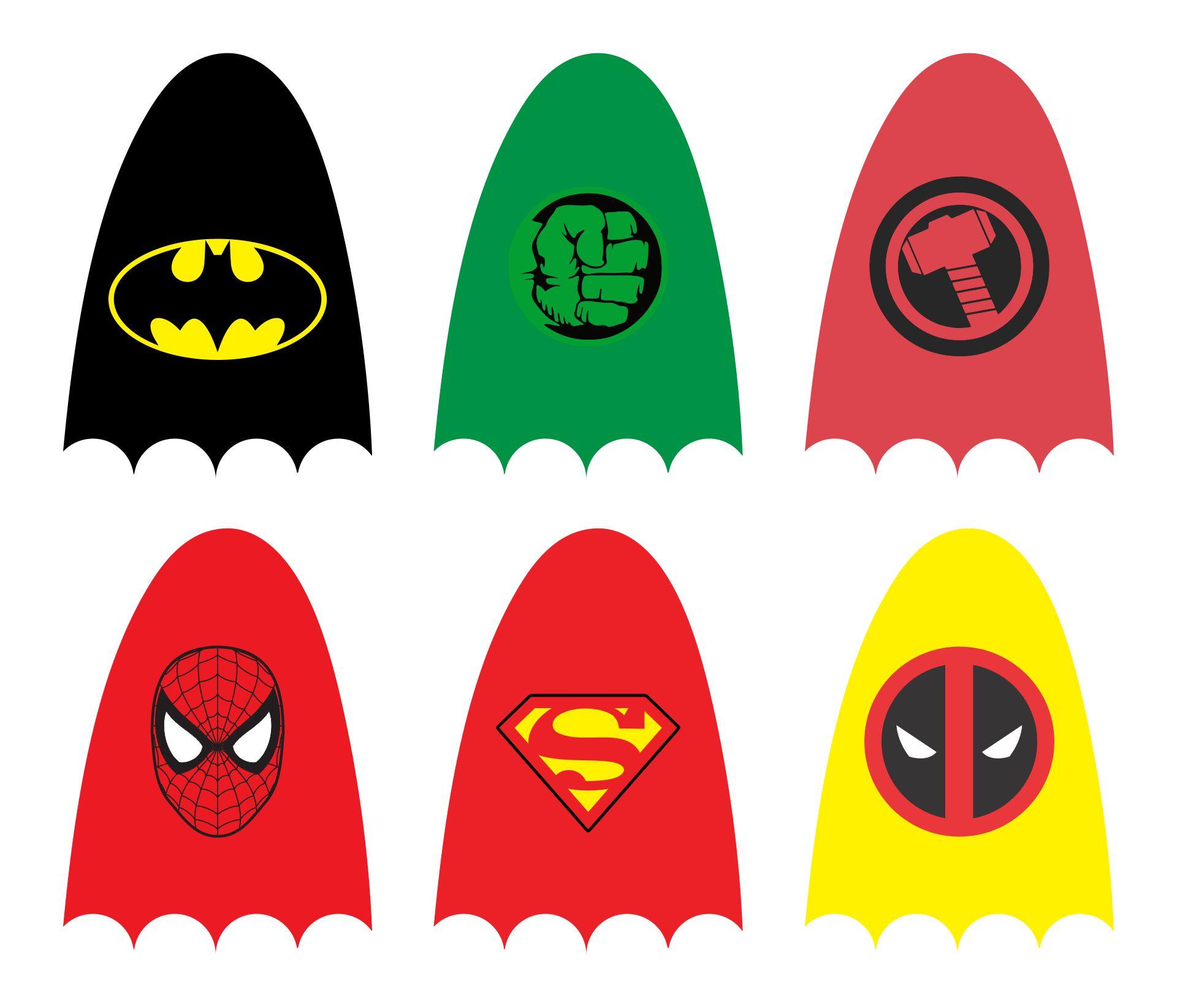 9 Images of Superhero Lollipop Printables