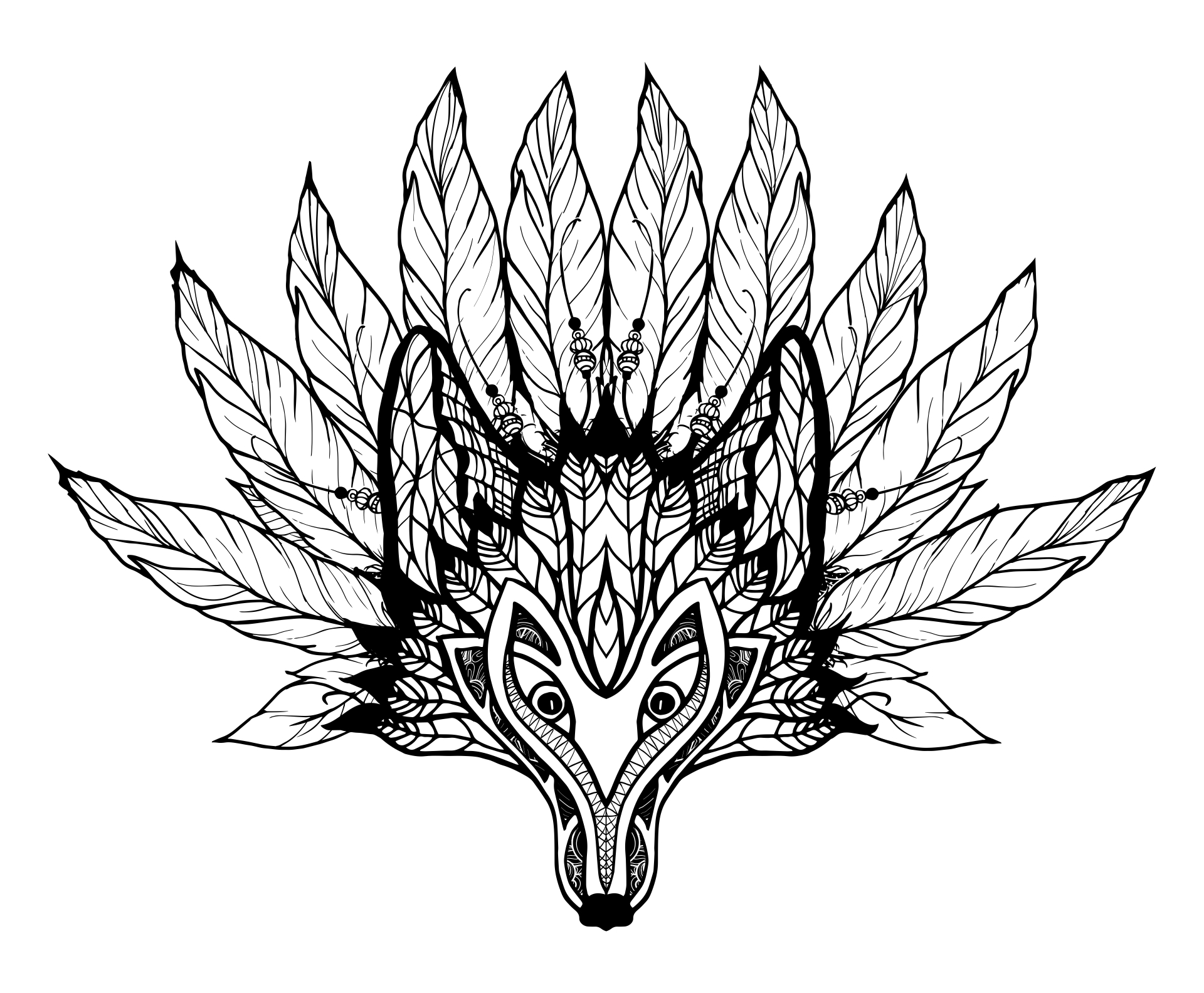 totem poles vector coloring page - Totem Pole Animals Coloring Pages