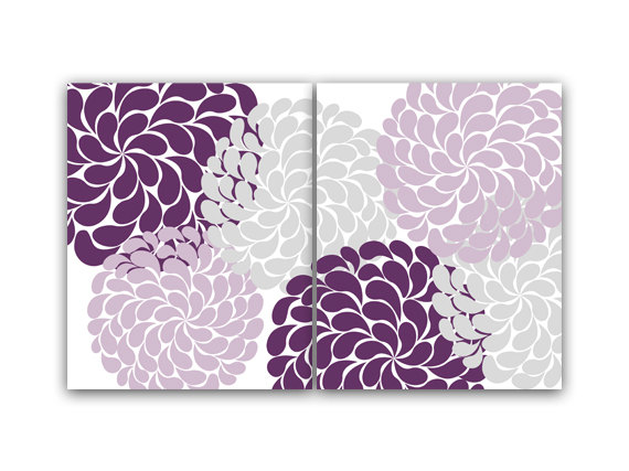 Purple Bathroom Wall Art Printables