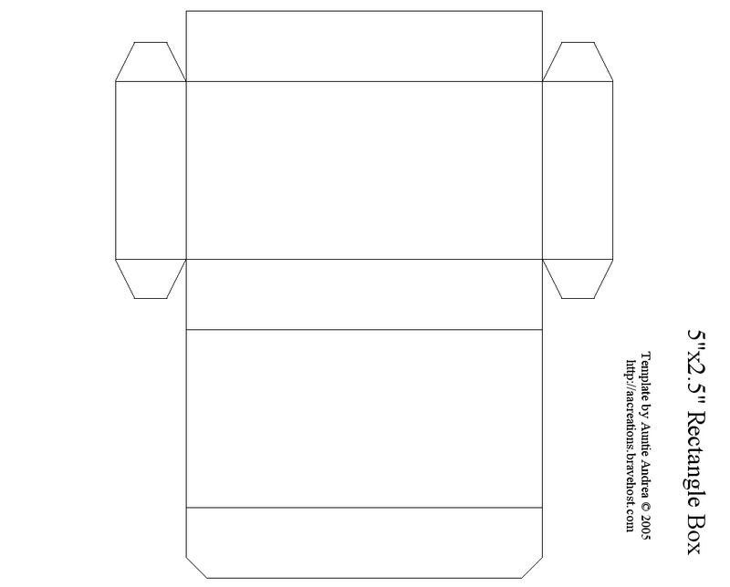 Rectangle Box Template Printable