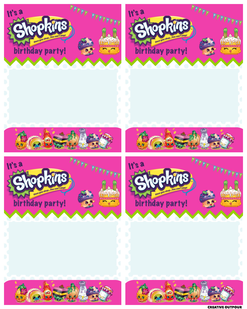 9 Images of S Hopkins Party Printables Invitations
