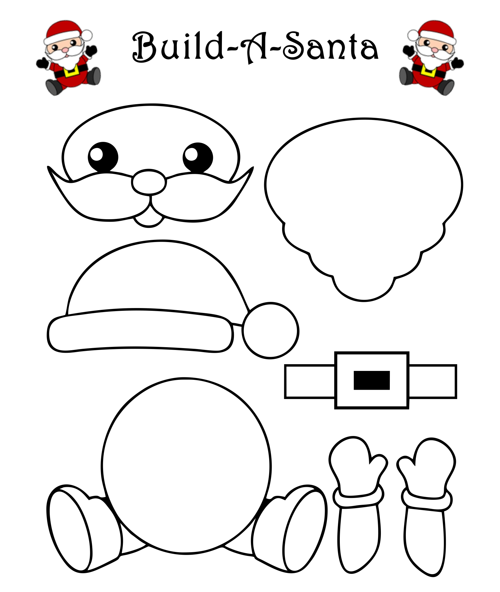 8 Images of Santa Claus Template Printable Craft