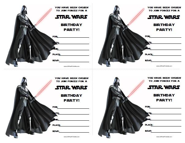... and Star Wars Birthday Invitations Printable Free / printablee.com