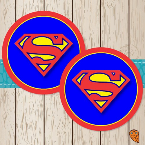 6 Images of Printable Superman Stickers