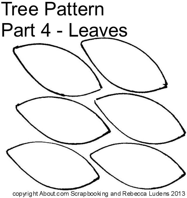 7 Images of Tree Cut Out Printable
