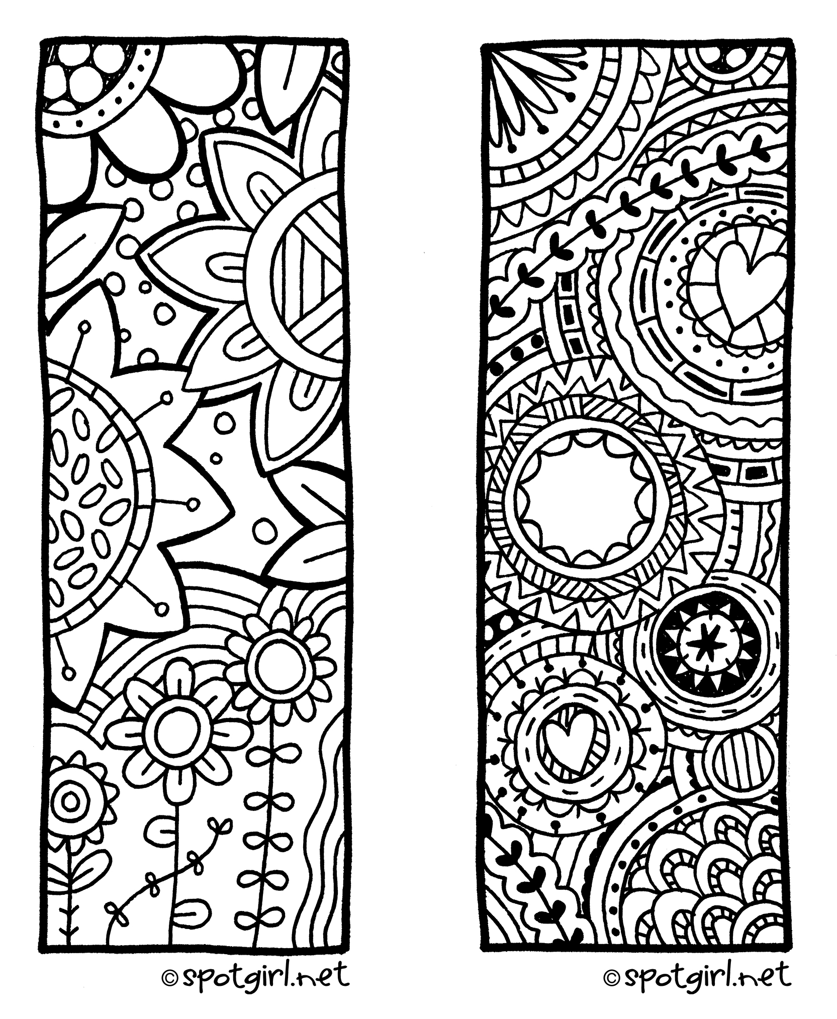 Zentangle Bookmark Printable