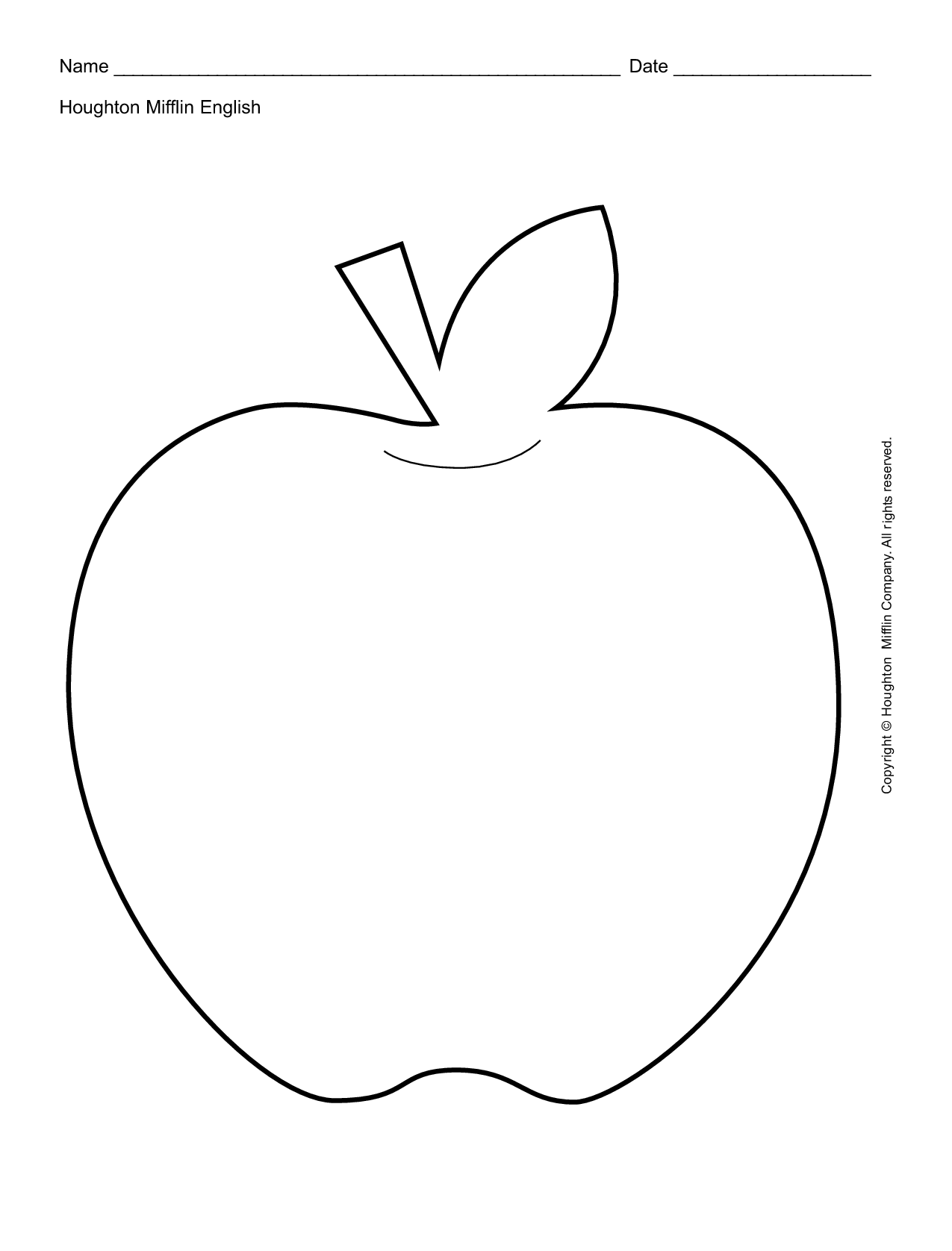 7 Images of Apple Outline Coloring Pages Printables