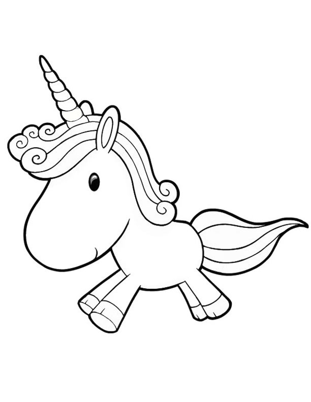 2 Images of Cute Unicorn Coloring Pages Printable