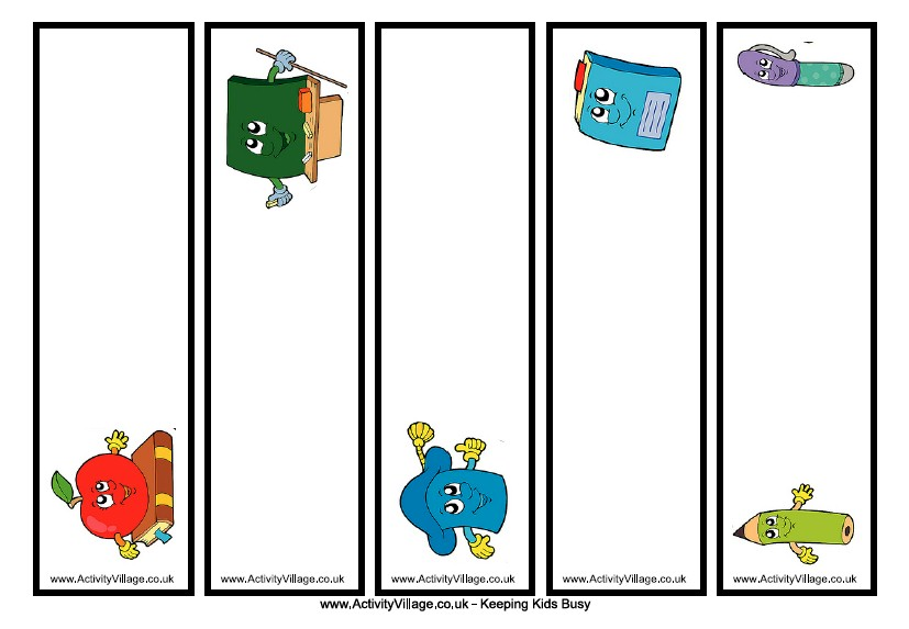Back to School Bookmark Template