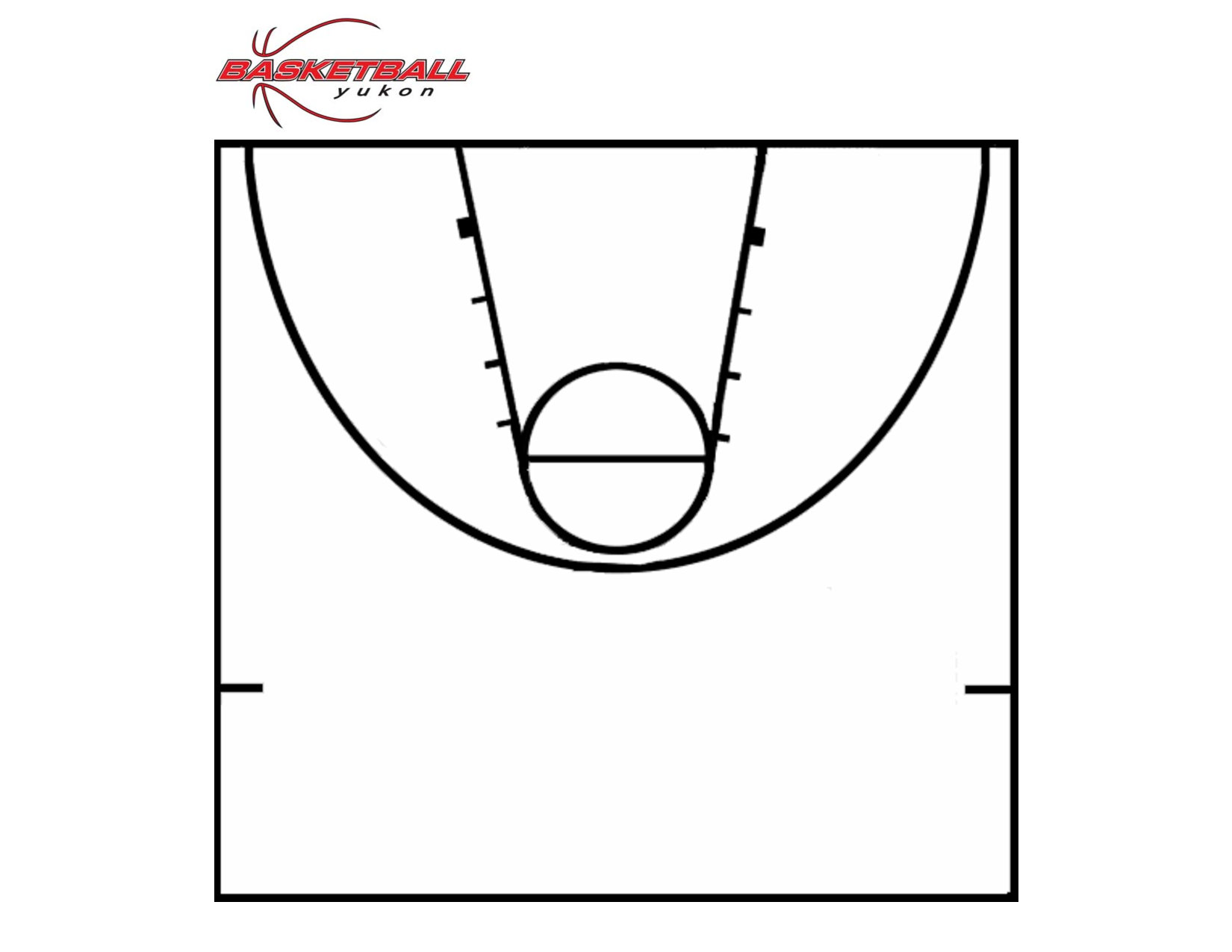 6 best images of printable basketball template printable for Half basketball court diagram