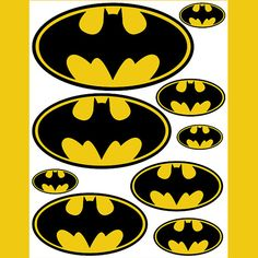 9 Images of Printable Batman Stickers