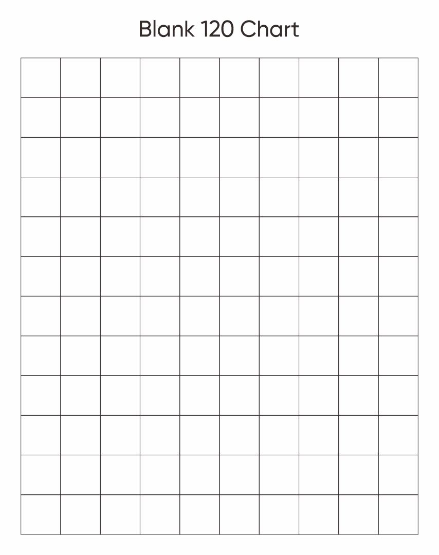 ... Chart To 120 6 best images of printable blank chart 1 120 - blank 120