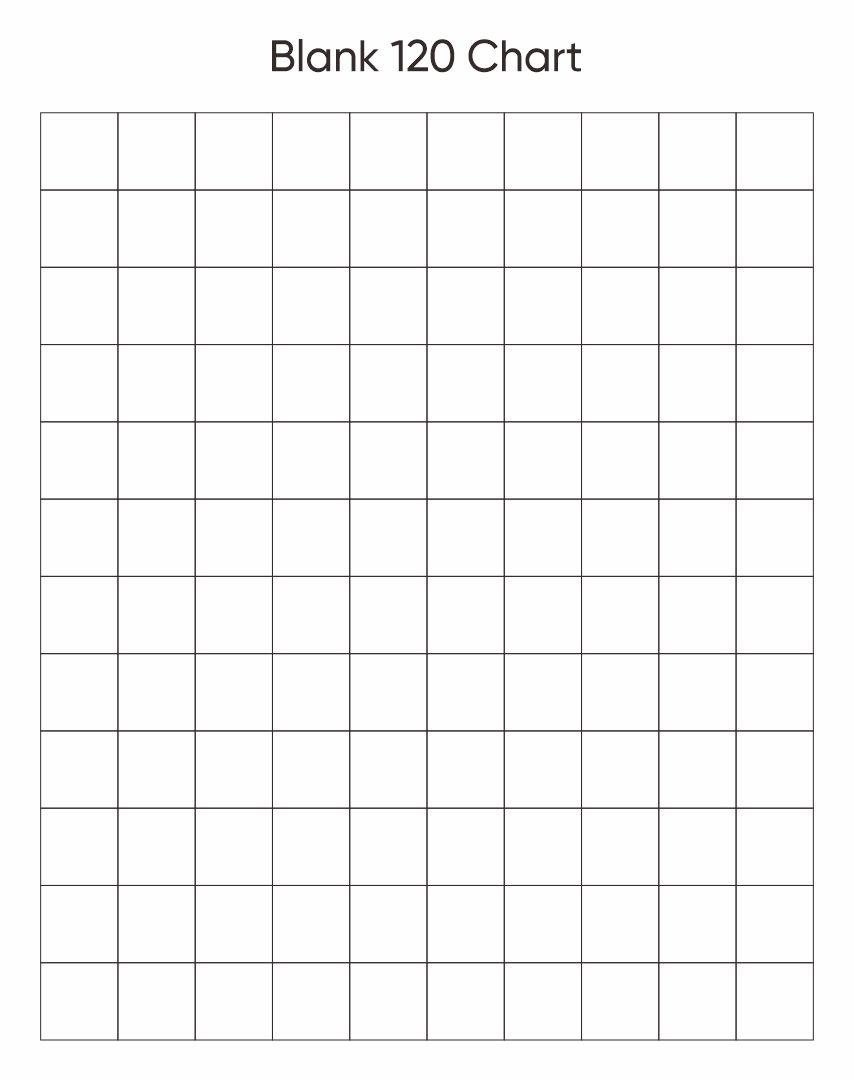 Blank 120 Chart Worksheet