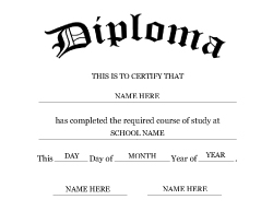 7 best images of printable degree templates college for Free fake high school diploma templates