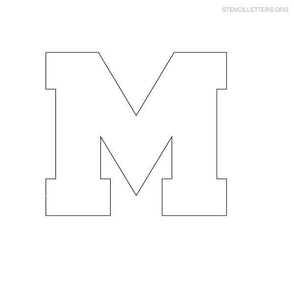 7 Images of Printable Block Letter Stencil M