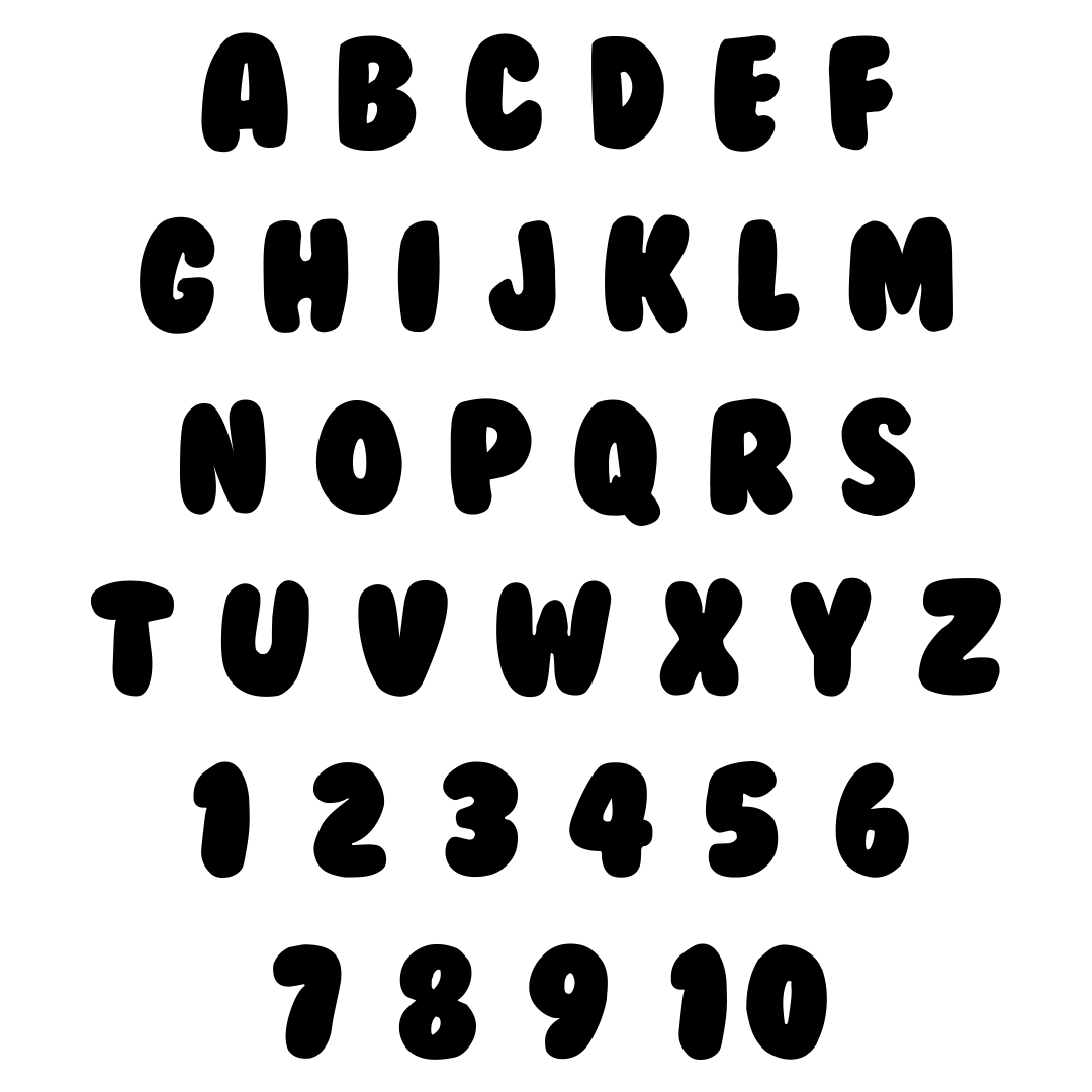 Bubble Letters and Numbers