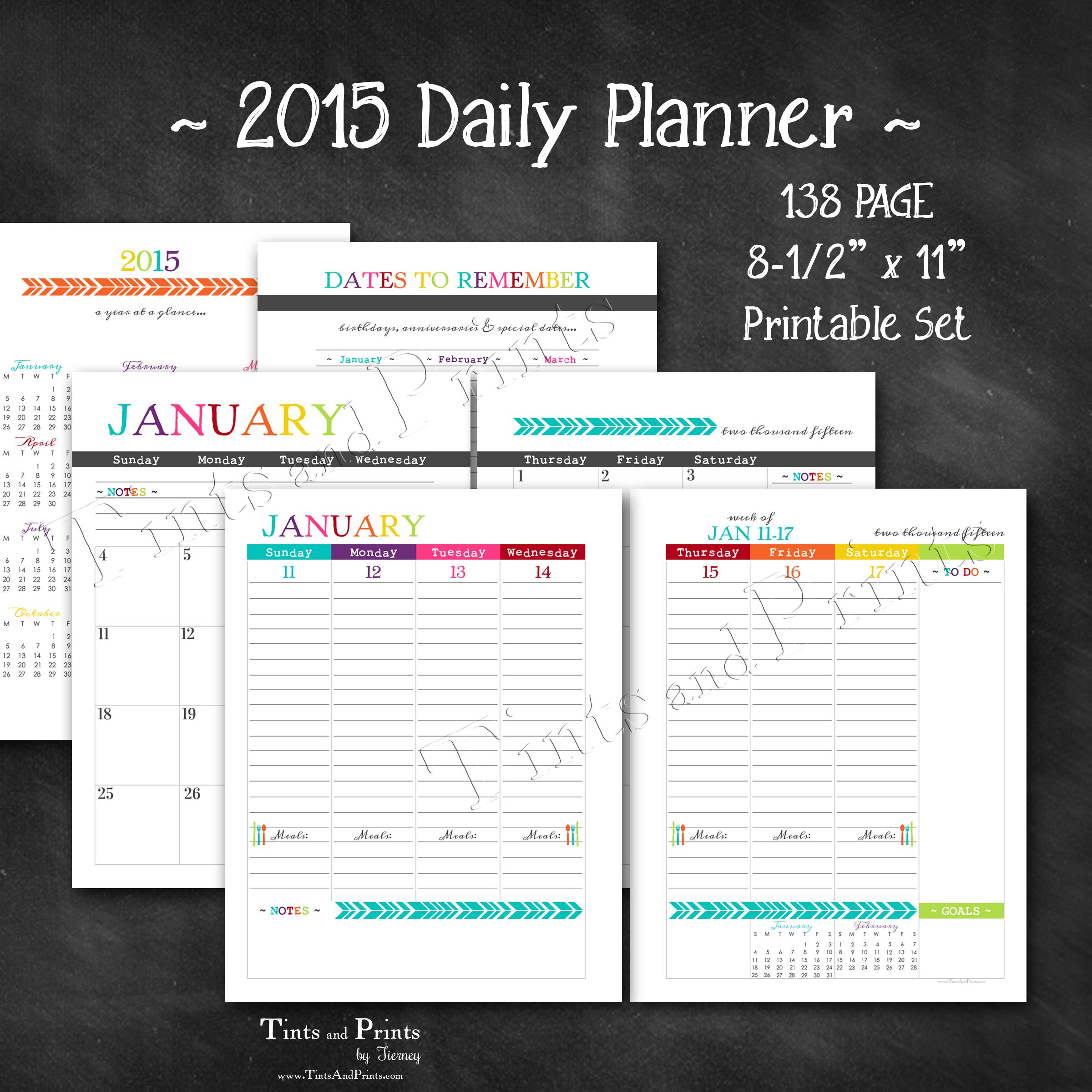 free daily calendar 2015