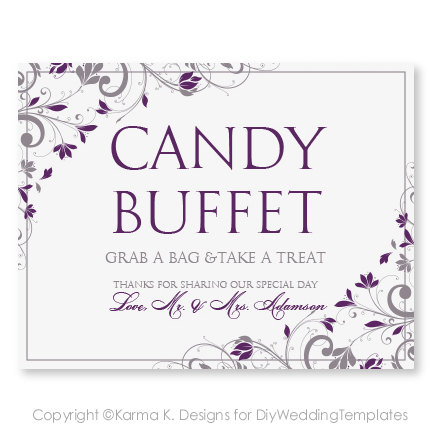 free printable sign templates - 7 best images of candy buffet template printable candy