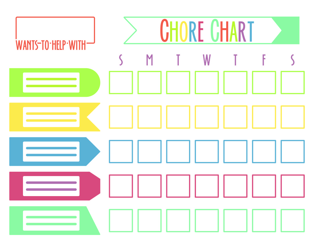 Chore Printable Responsibility Chart