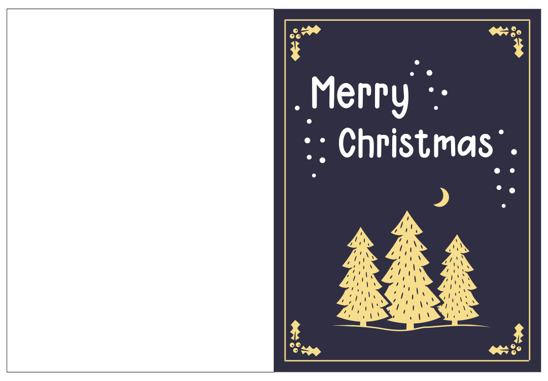 7 Images of Free Printable Christmas Card Template