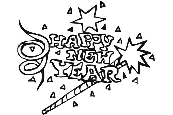 6 Best Images of Happy New Year 2015 Coloring Pages Printable