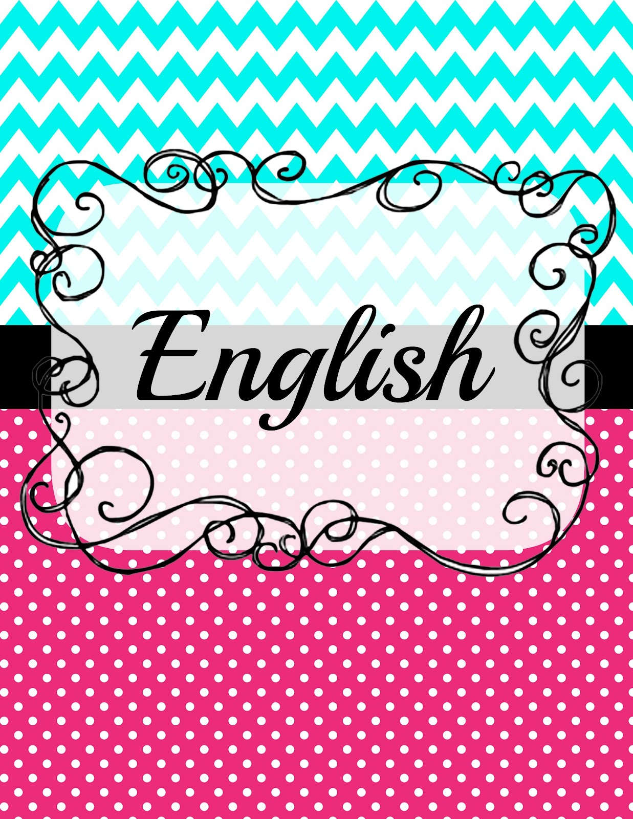 9 Best Images of Printable Binder Covers English - Cute ...