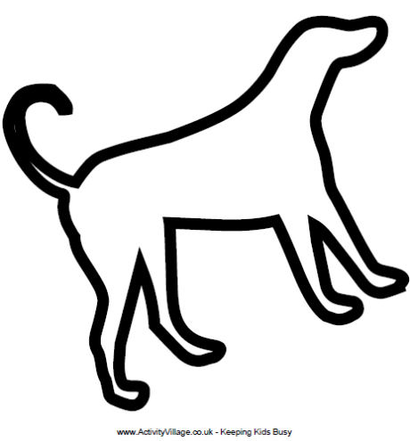 6 Images of Printable Dog Outline Template