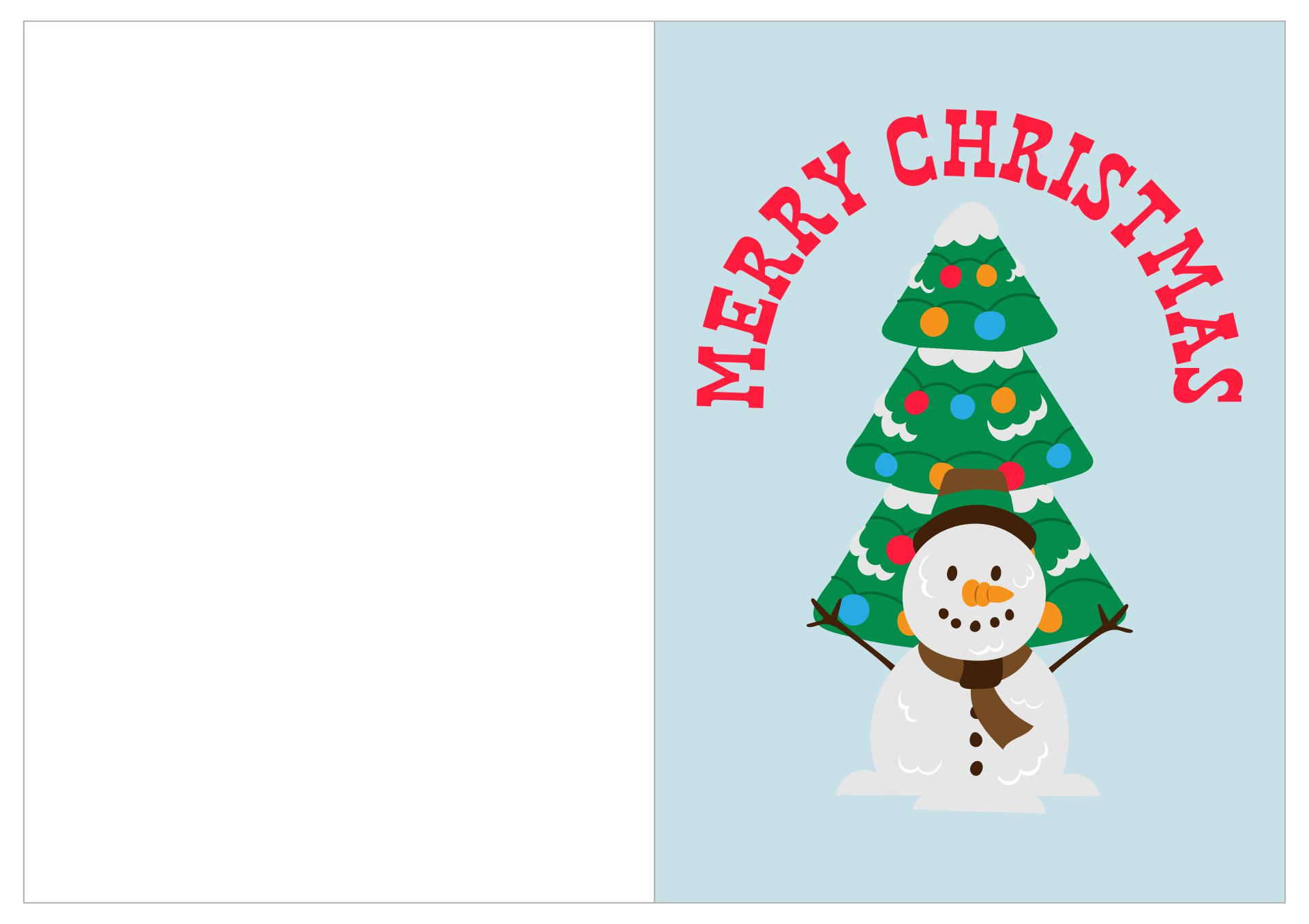 ... Christmas Card Templates Printable & Downloadable Christmas Card